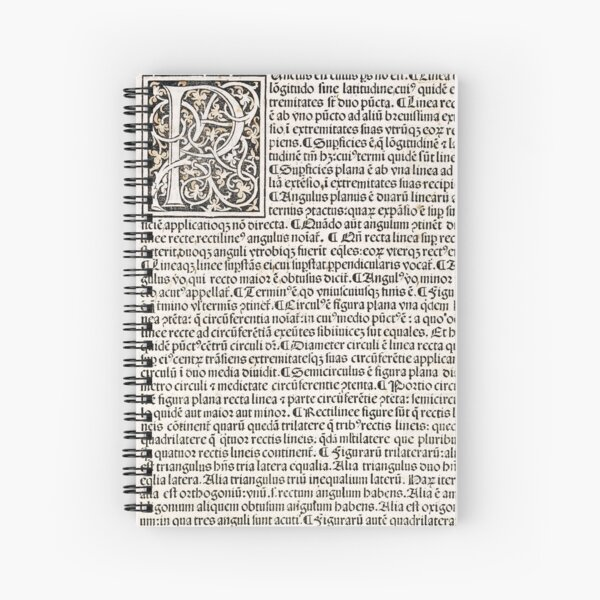 Euclid decorative printed initial  – State Library Victoria Spiral Notebook
