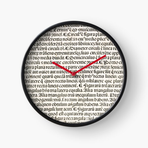 Euclid decorative printed initial  – State Library Victoria Clock
