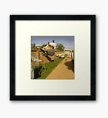 In Pothwar, even the Cows are Space Age Framed Print
