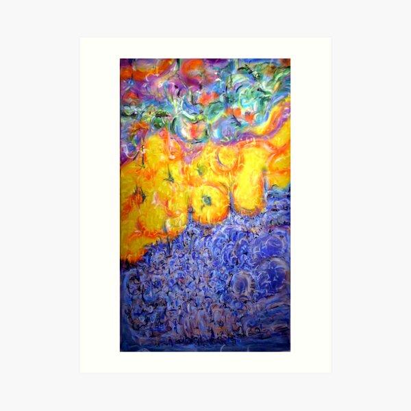 fire n ocean Art Print