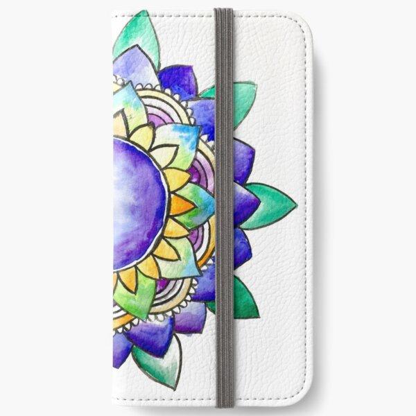 Watercolor Mandala  iPhone Wallet