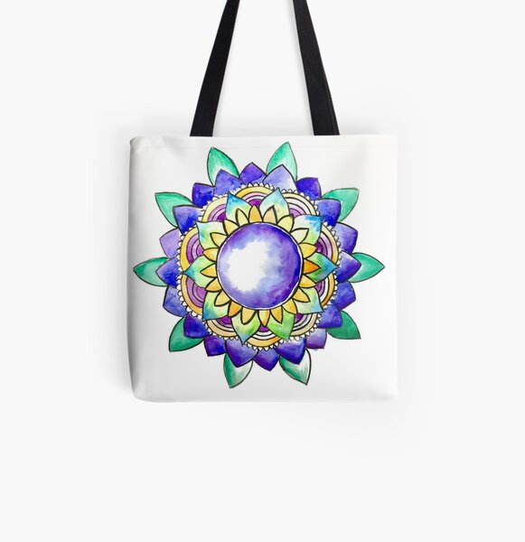Watercolor Mandala  All Over Print Tote Bag