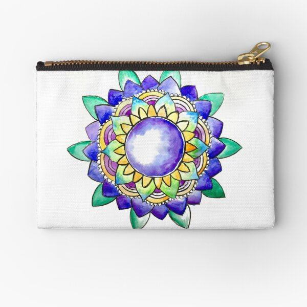 Watercolor Mandala  Zipper Pouch