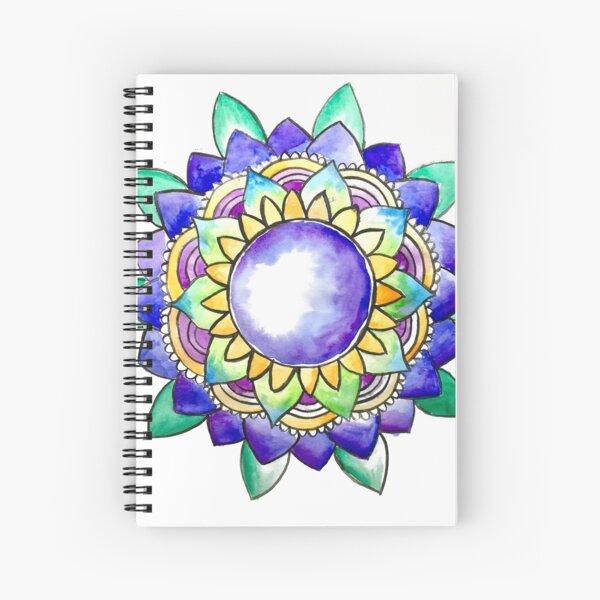 Watercolor Mandala  Spiral Notebook