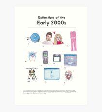 Extinctions of the 2000s Art Print