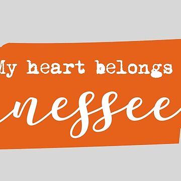 My Heart Belongs in Tennessee, Orange by sddesignco