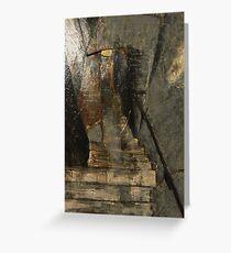 Stairway in Shadow Greeting Card
