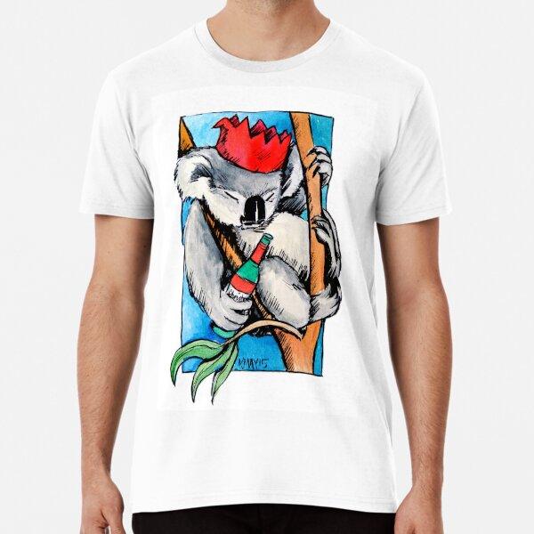 Koala Christmas drinks Premium T-Shirt