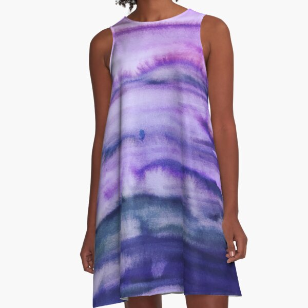 Power Purple A-Line Dress