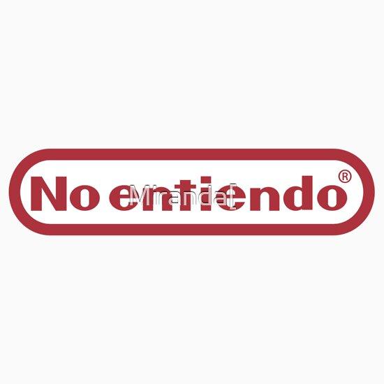 TShirtGifter presents: No entiendo means I dont understand