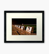 CONTRAST BLOCKS Framed Print