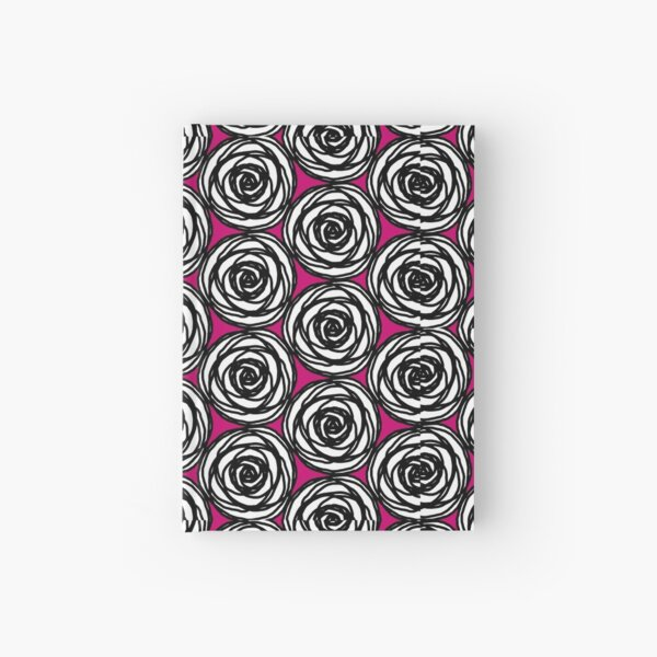 Black and White Rose Hardcover Journal