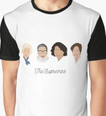 The Supremes (black text/white background) Graphic T-Shirt