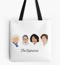 Die Supremes (schwarzer Text / weißer Hintergrund) Tasche