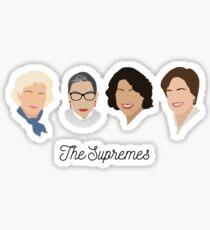 Die Supremes (schwarzer Text / weißer Hintergrund) Sticker
