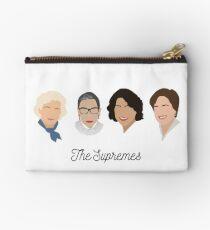 Die Supremes (schwarzer Text / weißer Hintergrund) Täschchen