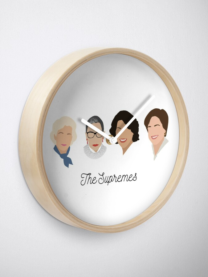 Alternate view of The Supremes (black text/white background) Clock