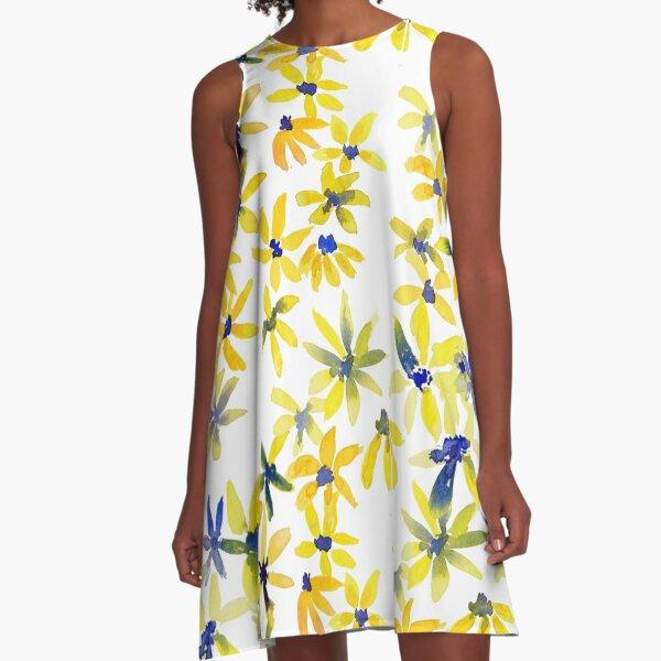 Blue Eyed Susan A-Line Dress