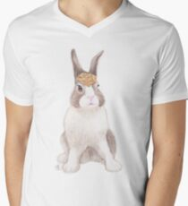 Pretzel Bun Men's V-Neck T-Shirt