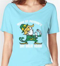 Trump Make St Patricks Day Great Again Shirt - funny Irish tshirt  trump shirts Women's Relaxed Fit T-Shirt