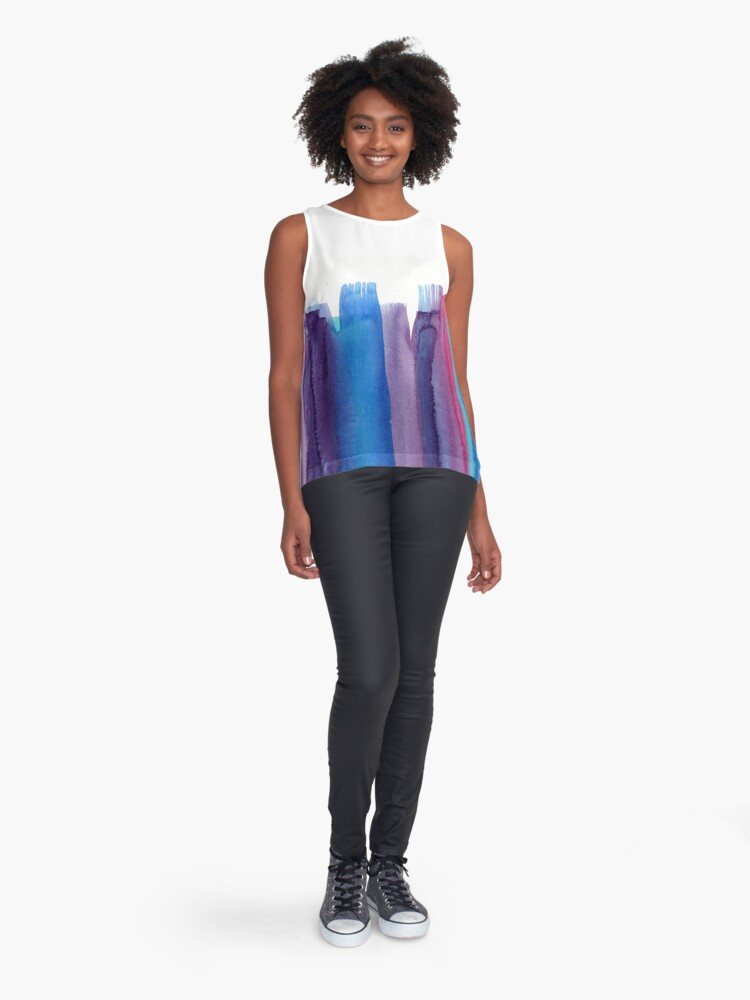 Alternate view of Brushed Watercolor Sleeveless Top