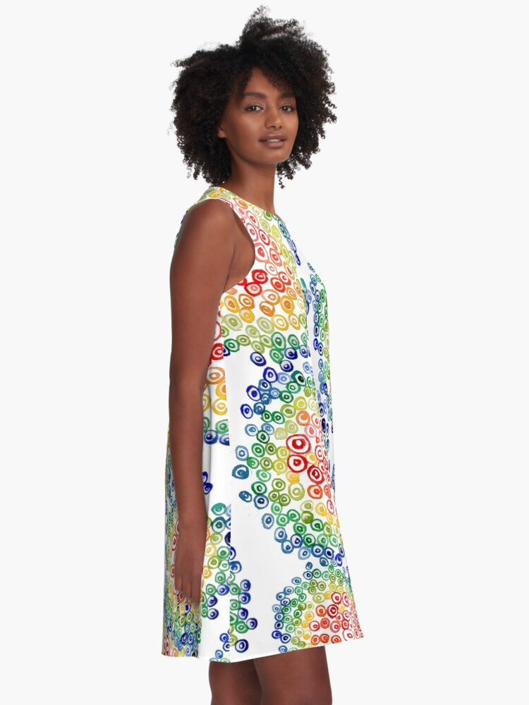 Alternate view of Color My Swirled A-Line Dress