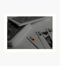 Poker Playing Art Print