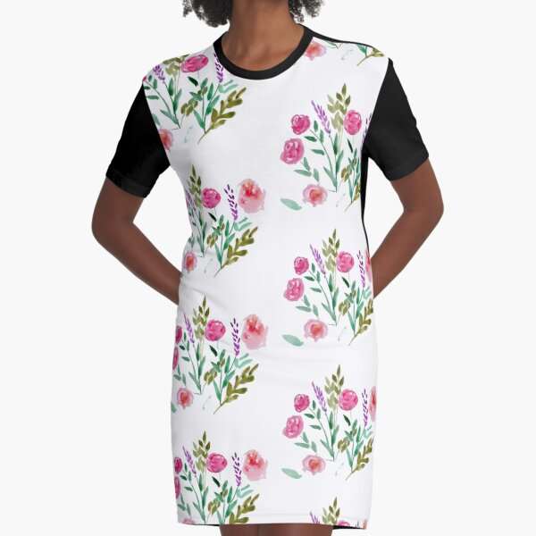 Country Bouquet Graphic T-Shirt Dress