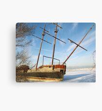 Jordan Station Shipwreck Canvas Print