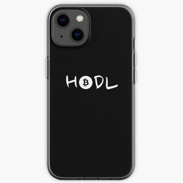 HODL Bitcoin - Black and White iPhone Soft Case