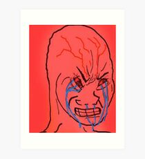 Angry Wojak Feels Guy Meme Art Print