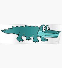 King Gizzard Gator Blue Poster