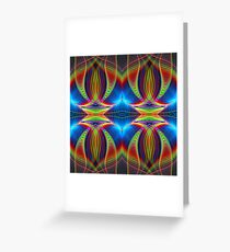 Play of lines, colourful fractal abstract pattern Greeting Card