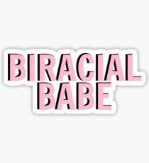 BIRACIAL BABE Sticker
