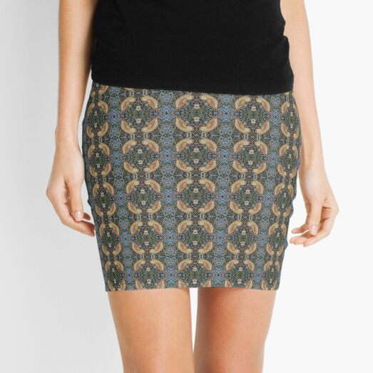 Frame, texture, design, tracery, weave, drawing, figure, picture, illustration, carpet Mini Skirt