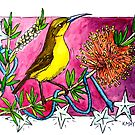 Christmas Stars Honeyeater by Katherine May