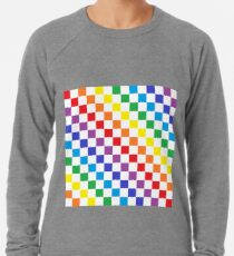 Karierter Regenbogen Leichtes Sweatshirt