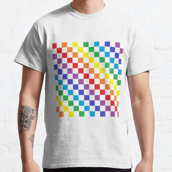 Checkered Rainbow  Classic T-Shirt