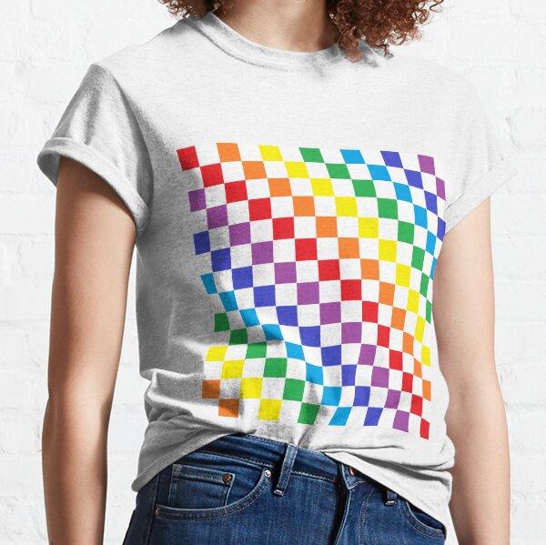 Checkered Rainbow  Classic T-Shirt