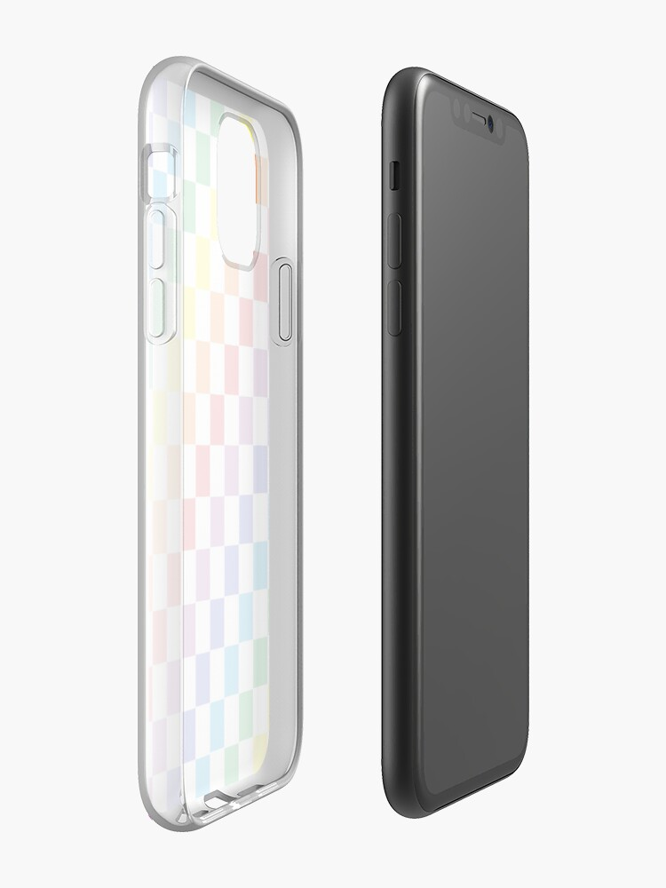 Alternate view of Checkered Rainbow  iPhone Case & Cover