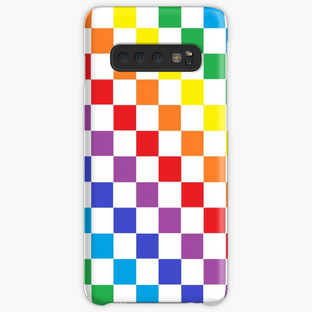 Checkered Rainbow  Case & Skin for Samsung Galaxy