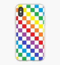 Checkered Rainbow  iPhone Case