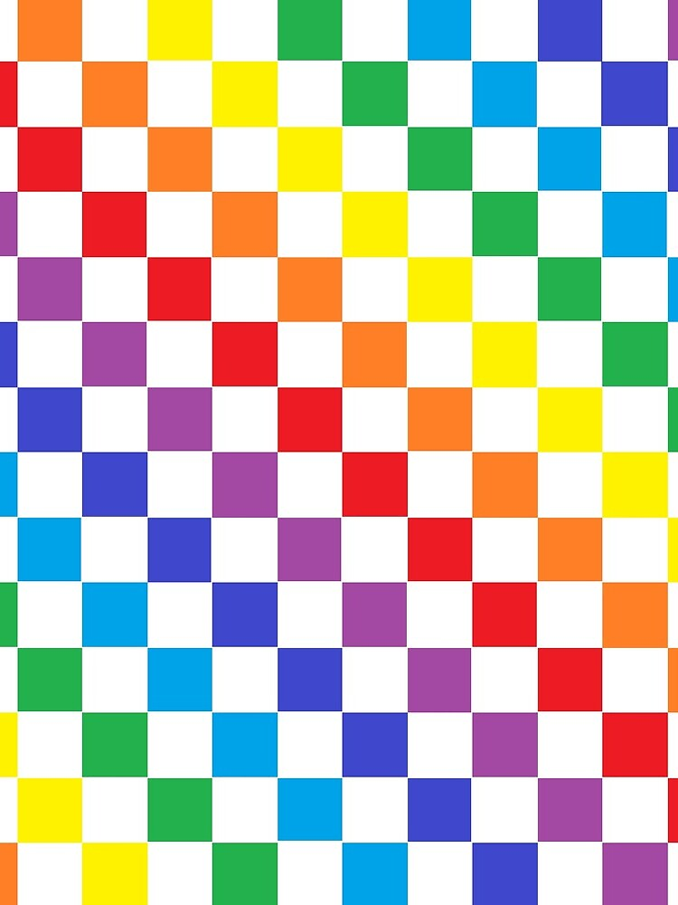 Checkered Rainbow  by lornakay