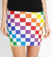 Checkered Rainbow  Mini Skirt