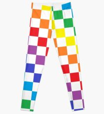 Checkered Rainbow  Leggings