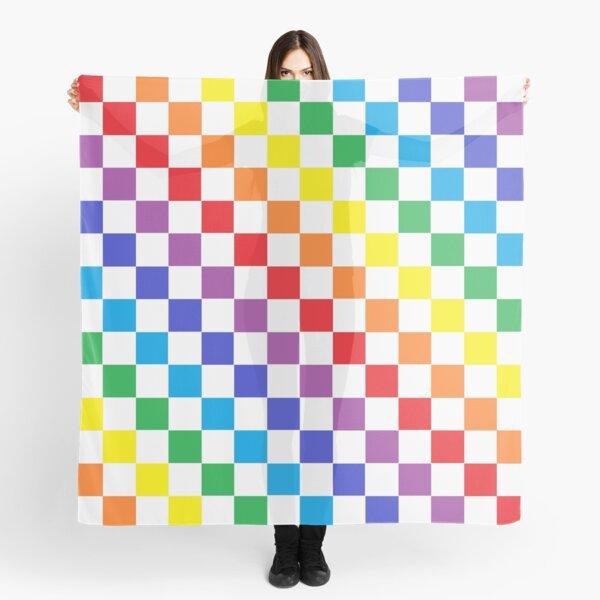 Checkered Rainbow  Scarf