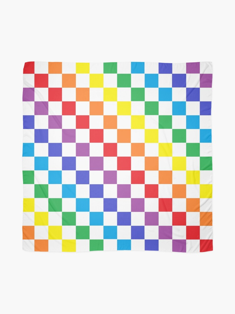 Alternate view of Checkered Rainbow  Scarf