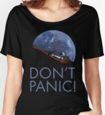 Spacex DON'T PANIC In Space Women's Relaxed Fit T-Shirt