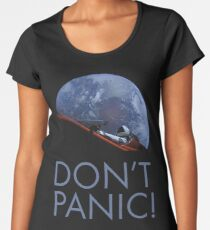 Spacex DON'T PANIC In Space Women's Premium T-Shirt