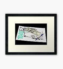Tax Time Framed Print